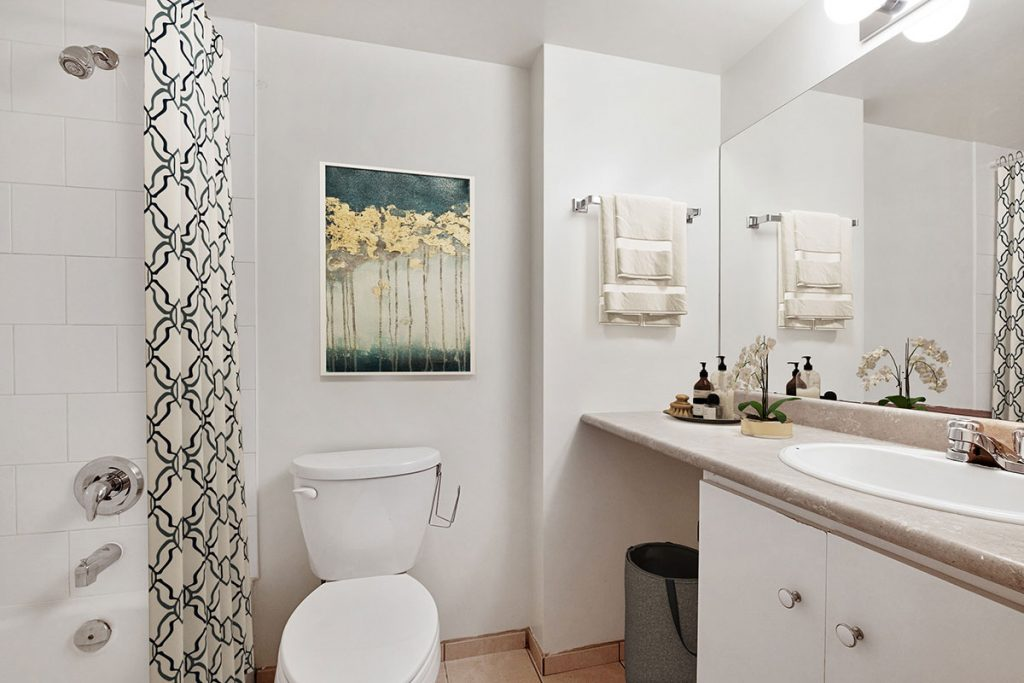 Bathroom at Pacific Sands Apartments Vancouver BC