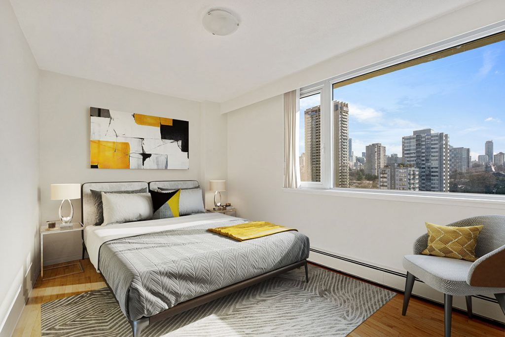 Bedroom at Pacific Sands Apartments Vancouver BC