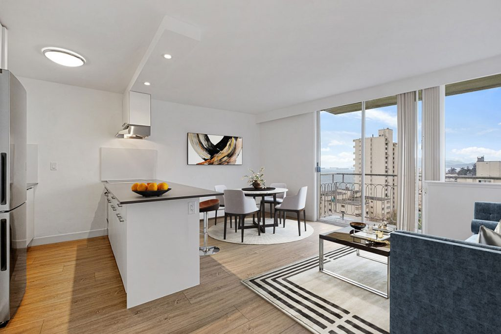 Kitchen-Diningroom at Pacific Sands Apartments Vancouver BC