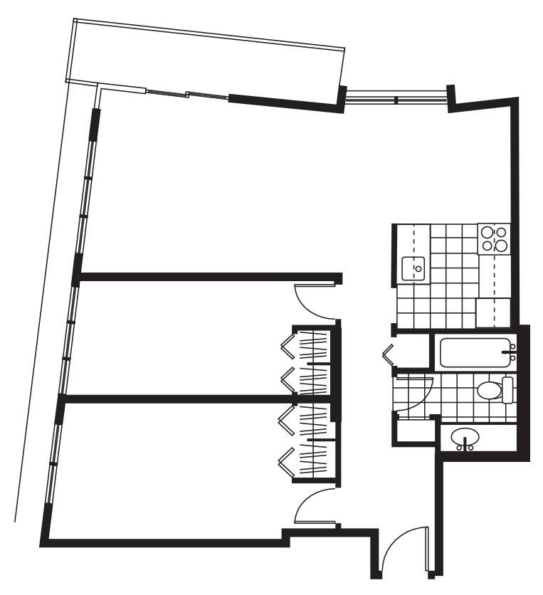 Pacific Sands Floorplan - 2BR-850 sq ft