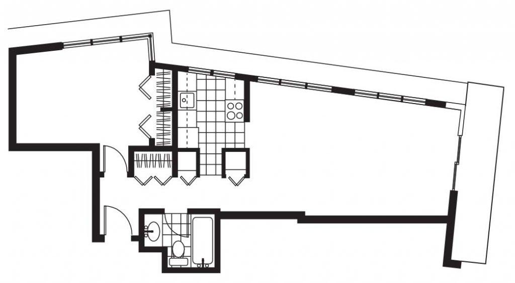 Pacific Sands Floorplan - 1BR-650 sq ft
