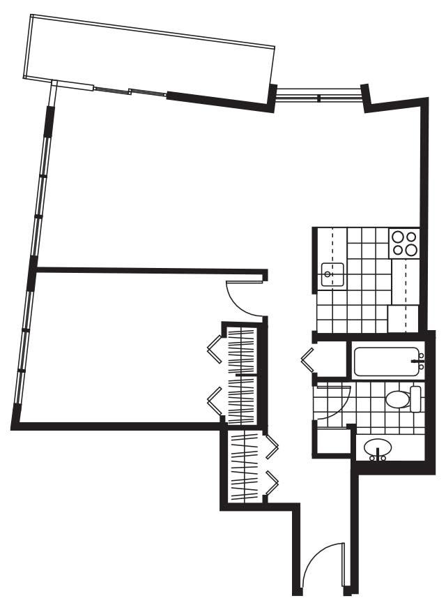 Pacific Sands Floorplan - 1BR-700 sq ft